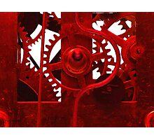 Clock Works Photographic Print
