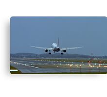 A320 Landing Canvas Print