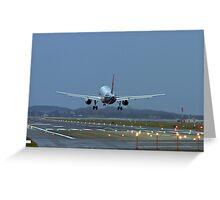 A320 Landing Greeting Card