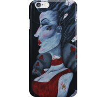 Red Queen Hearts Alice in Wonderland Art  iPhone Case/Skin