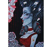 Red Queen Hearts Alice in Wonderland Art  Photographic Print