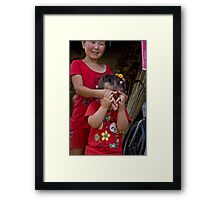 I've spotted you... Framed Print