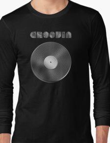 Groovin - Vinyl LP Record & Text - Metallic - Steel T-Shirt
