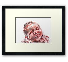 Ava Sketch #1b Framed Print