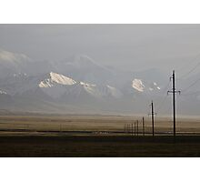 Pamirs at dusk Photographic Print