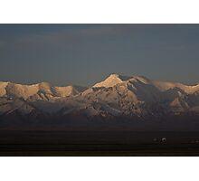 Dawn on the Pamirs at Sary Tash Photographic Print