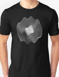 Warped Vinyl LP Record - Metallic - Steel Unisex T-Shirt