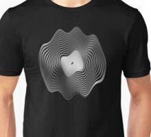 Warped Vinyl LP Record - Metallic - Steel Unisex T-Shirt