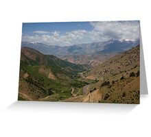 Road to Fergana Valley Greeting Card