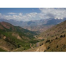 Road to Fergana Valley Photographic Print