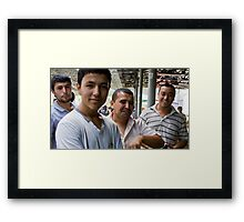 The Boys (of Margilon Bazaar) Framed Print