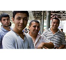 The Boys (of Margilon Bazaar) Photographic Print