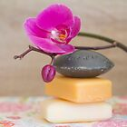 orchids and soaps by Carine LUTT
