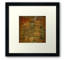 Rusted Labyrinth Grunge Framed Print