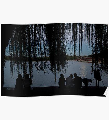 Beijing full moon at Bei Hai Park Poster