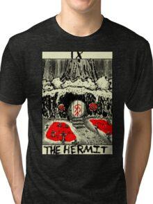 Tarot: The Hermit Tri-blend T-Shirt