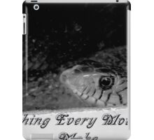 Snake - Peeping Through A Glass iPad Case/Skin
