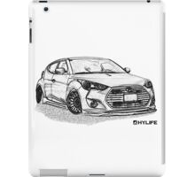 Veloster Sketch Dark iPad Case/Skin