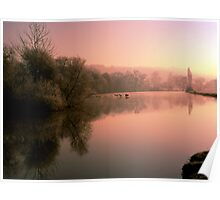 River Thames at Mapledurham Poster
