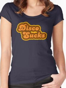Disco Sucks - Retro 70s - Logo Women's Fitted Scoop T-Shirt