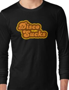 Disco Sucks - Retro 70s - Logo Long Sleeve T-Shirt