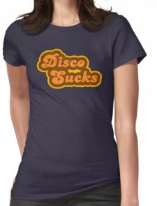 Disco Sucks - Retro 70s - Logo Womens Fitted T-Shirt