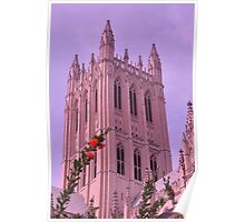 Spring at National Cathedral Poster