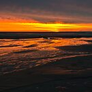 Wet sand on fire  by Ulla Jensen