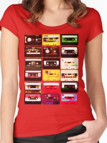 Cassette Set Women's Fitted Scoop T-Shirt