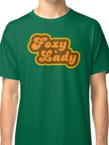 Foxy Lady - Retro 70s - Logo Classic T-Shirt