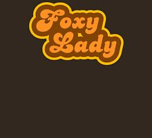 Foxy Lady - Retro 70s - Logo Womens Fitted T-Shirt