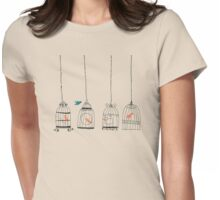 birdcage- searching for the one Womens Fitted T-Shirt