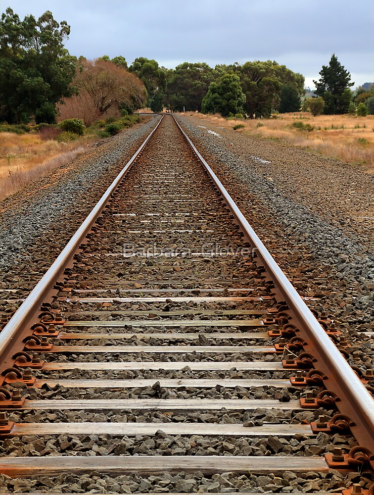 In the Middle of Somewhere. - Rail line to somewhere. by Barbara  Glover