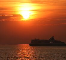 11 pm sunset over Baltic Sea by Vishal Pandey