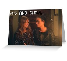VHS and chill Greeting Card