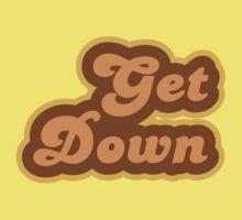 Get Down - Retro 70s - Logo One Piece - Short Sleeve