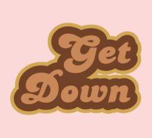 Get Down - Retro 70s - Logo Kids Tee