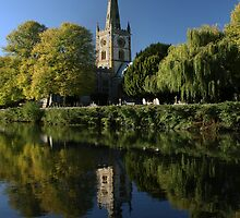 Stratford upon Avon, Holy Trinity Church, Site of Shakespeare's Grave by Gethin Thomas