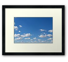 blue sky and clouds - blue sky with clouds Framed Print