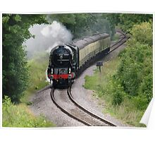 The Tornado steam train on the West Somerset Railway Line. Poster
