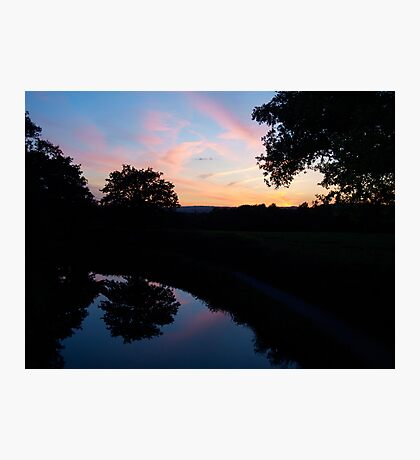 Sunset over the Great Western Canal Photographic Print