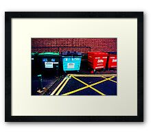 Primary Rubbish Framed Print