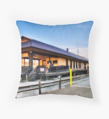 Branson Scenic Railway Depot Throw Pillow