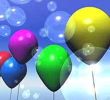 Party Balloons & Bubbles by mdkgraphics