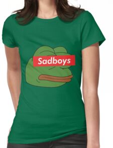 rare pepe sadboy Womens Fitted T-Shirt