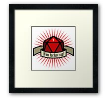I'm helping - Role dice Framed Print