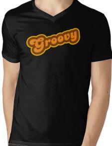 Groovy - Retro 70s - Logo Mens V-Neck T-Shirt