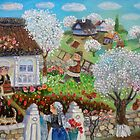 Spring Day in the Balkan village by artistelena