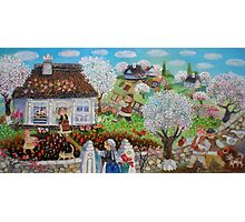 Spring Day in the Balkan village Photographic Print