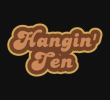 Hangin' Ten - Retro 70s - Logo Kids Tee